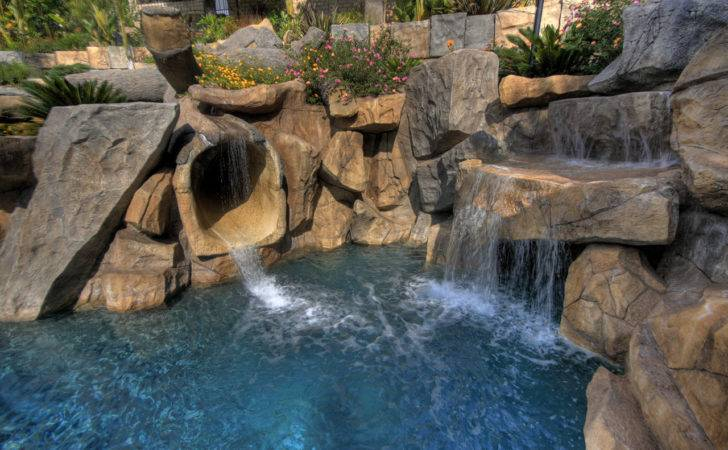 Swimming Pool Rock Slides Archives Ages Pools Landscaping