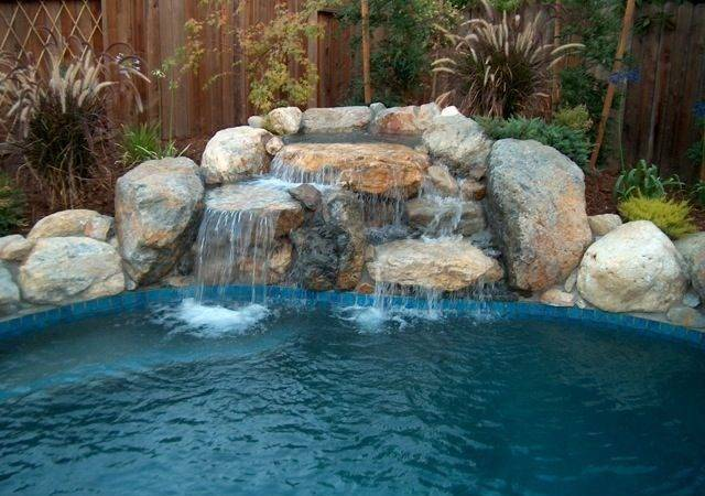 Swimming Pool Rock Waterfalls Waterfall