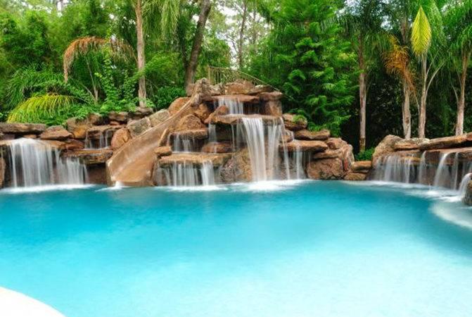 Swimming Pool Waterfalls Rock Platinum Pools