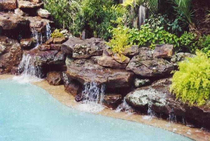 Swimming Pool Waterfalls Rock Platinum Pools