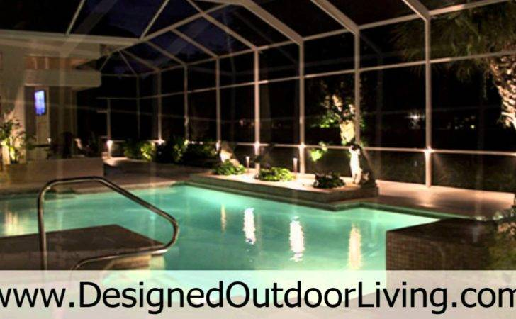 Swimming Pools Inside Pool Cages Outdoor Cage Lighting