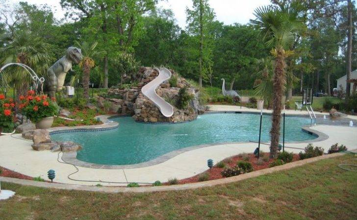 Swimming Pools Slides Freeform Pool Grotto Slide Beach