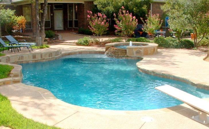 Swimming Pools Water Slide Expansive Dark Bottom Pool Spa
