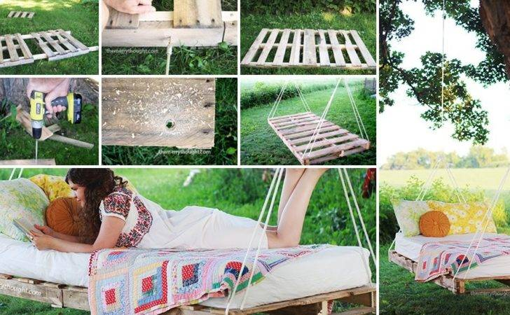 Swing Bed Made Pallets Diy Pallet Beds Bring Relaxation