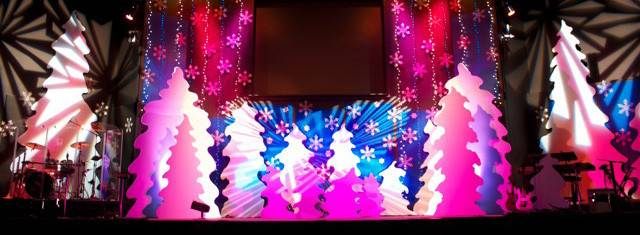 Swirly Christmas Stage Design