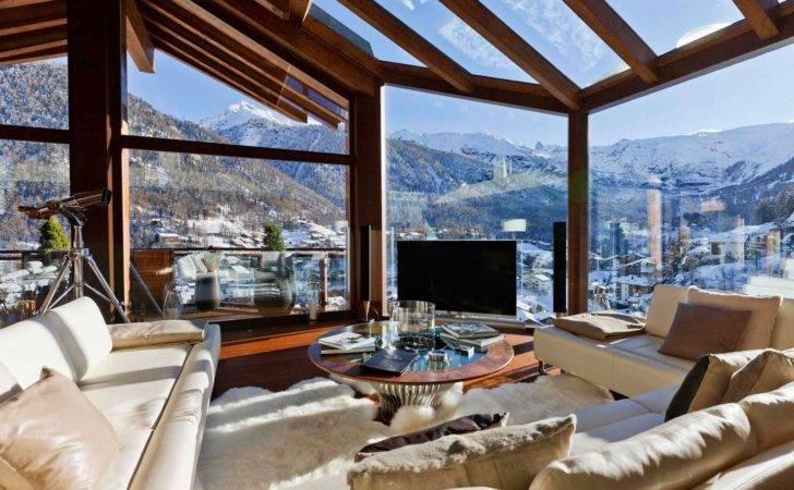Swiss Chalet Interior Livingroom Design Mag