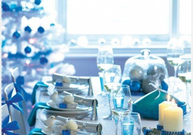 Table Decorations Turquoise Christmas