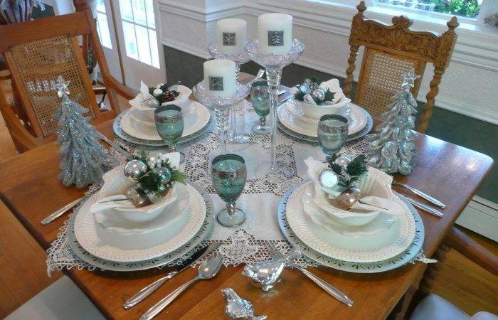 Table Four Light Turquoise Silver Great Colorful Ideas