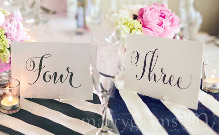 Table Number Signs Wedding Whimsical Style Reception Signage