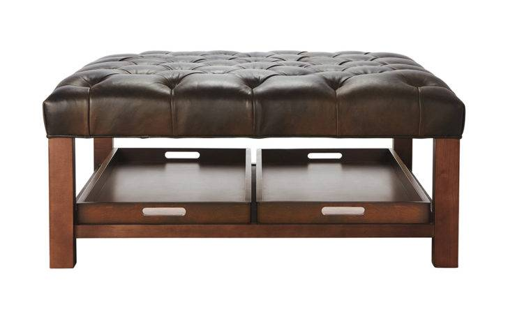 Table Storage Ottoman Coffee Tufted Back