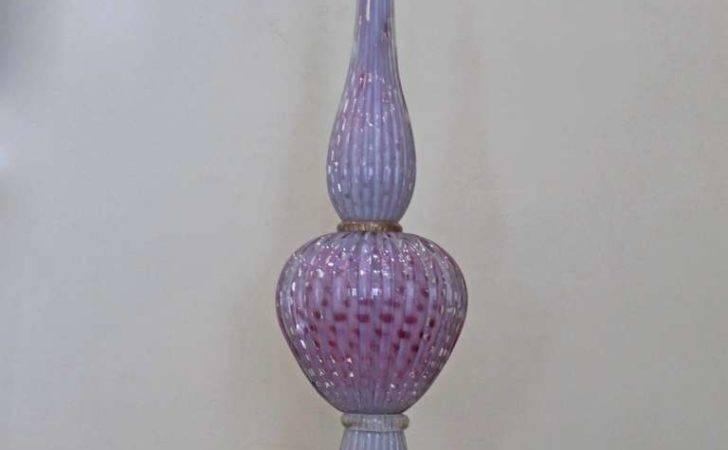 Tall Murano Opalescent Fushia Controlled Bubble Table Lamp Stdibs