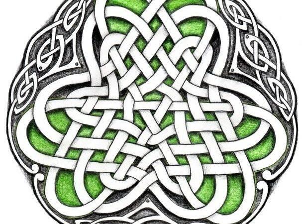 Tattoos Doodles Celtic Circle Irish Shamrock