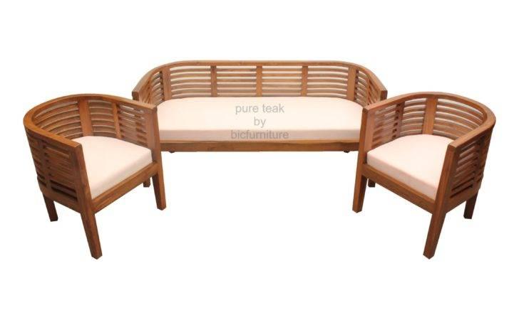 Teak Wood Round Sofa Makers Sleek Mumbai Homes Design