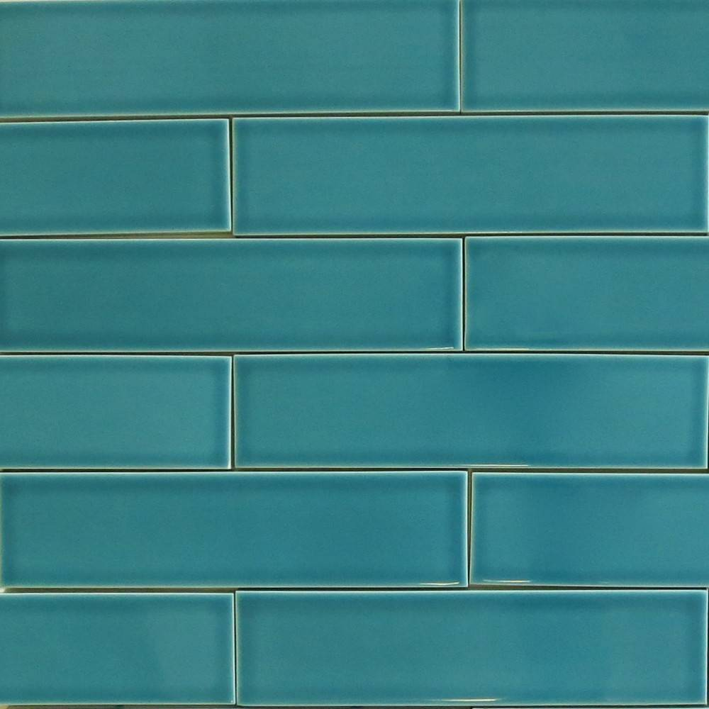 Teal Agate Subway Ceramic Tile Kiln Modwalls
