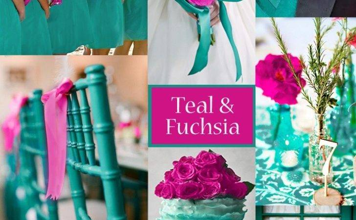 Teal Fuchsia Wedding Colors Vibrant Palette Spring