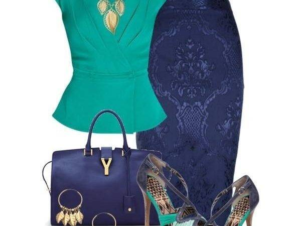 Teal Navy Blue Combination Outfits Pinterest