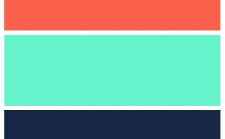 Teal Navy Coral Color Scheme Home Pinterest