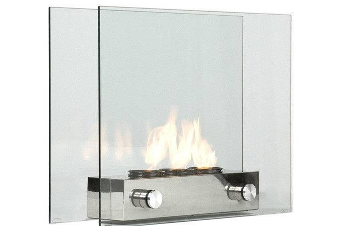 Tempered Glass Portable Fireplace Indoor Outdoor Fire