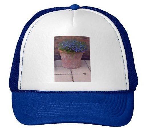 Terracotta Blue Flowers Cap Zazzle