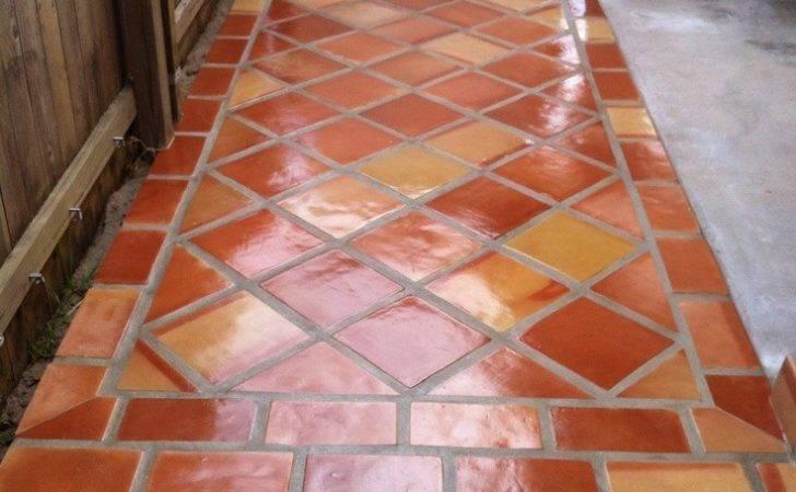 Terracotta Floor Tiles Well Terra Cotta Glass Mosaic Interior