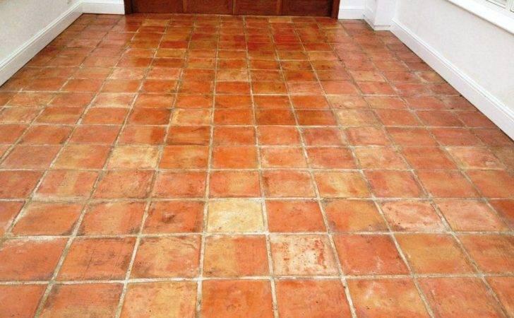 Terracotta Tiled Conservatory Floor Cleaned Sealed Kidlington