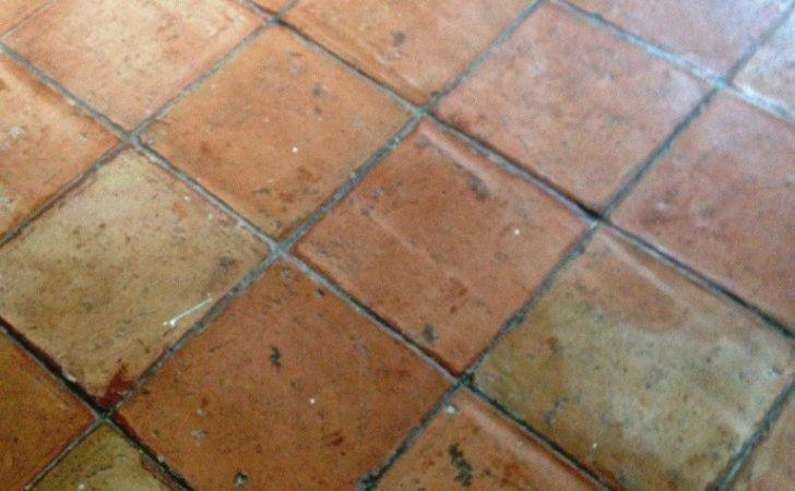 Terracotta Tiles Before Cleaning Battersea
