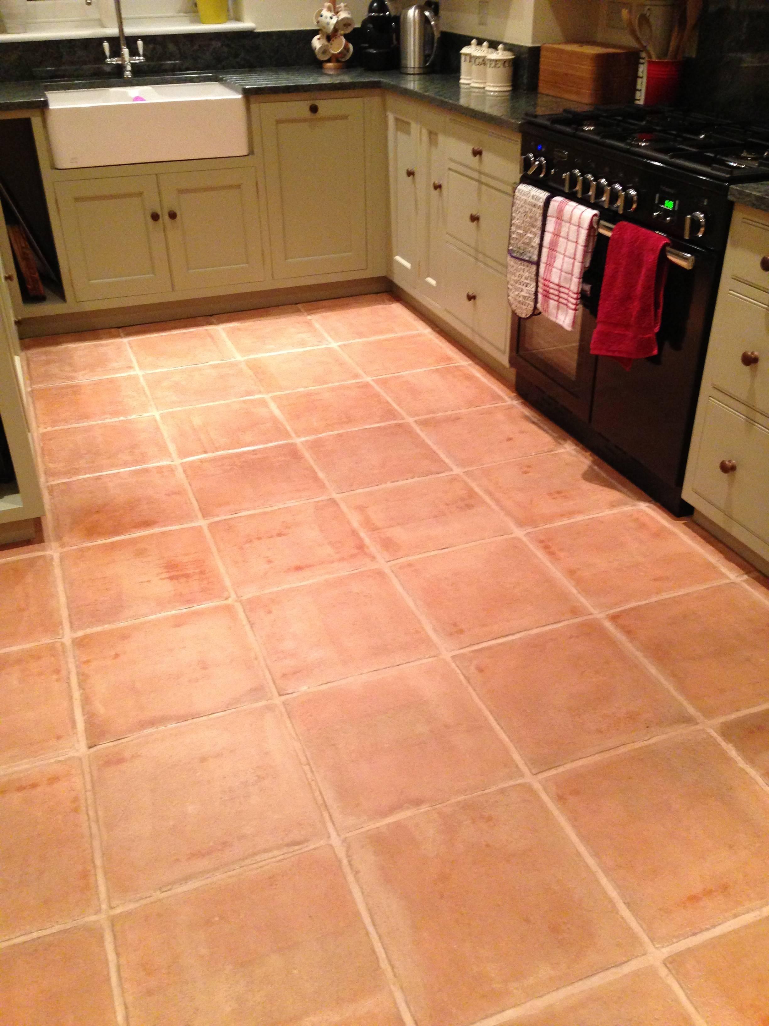 Terracotta Tiles Floor Also Outdoor