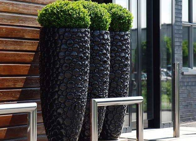 Terrarium Design Interesting Black Outdoor Planter Cheap