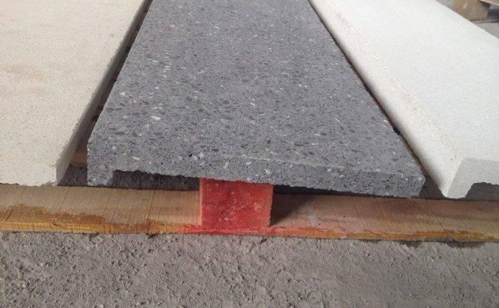 Terrazzo Exposed Sandblasted Concrete Rebated Edge Cream