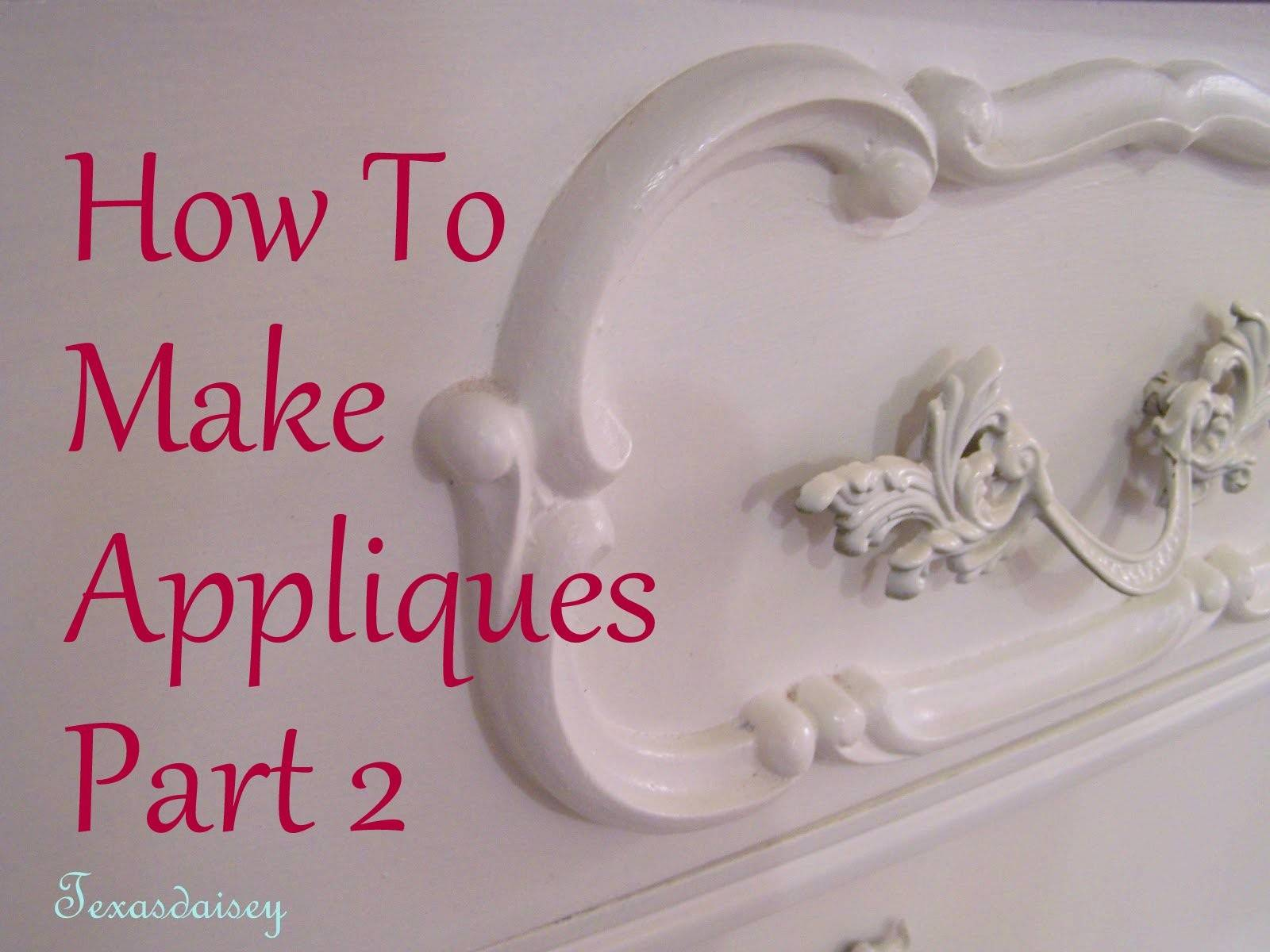 Texasdaisey Creations Make Appliques Furniture