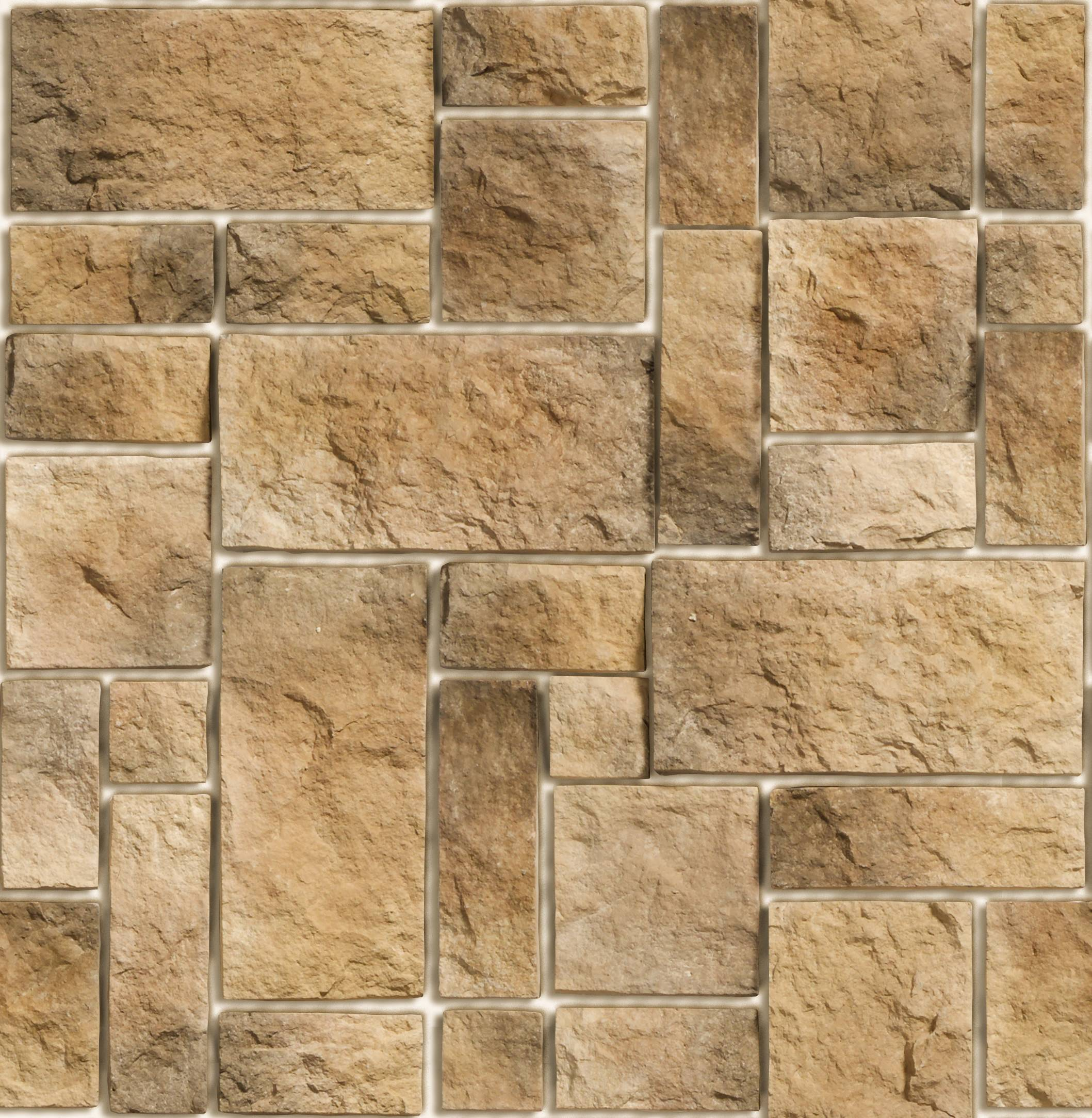 Texture Stone Hewn Tile Wall