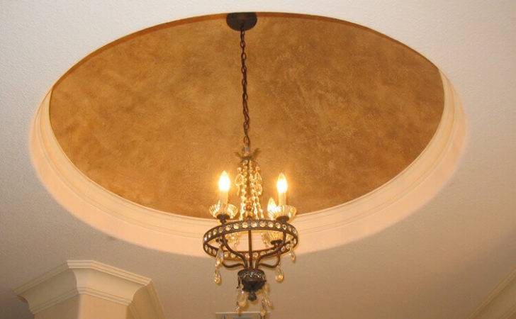 Textured Yellow Dome Long Chandelier Visible White