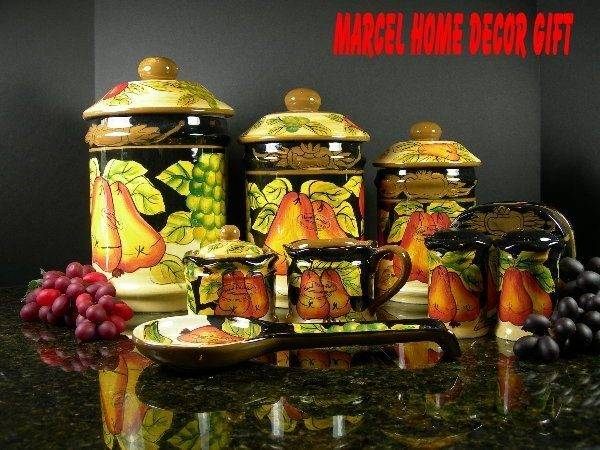 Themes Fruits Kitchen Decor Pcs Canister Winter Fruit Collection