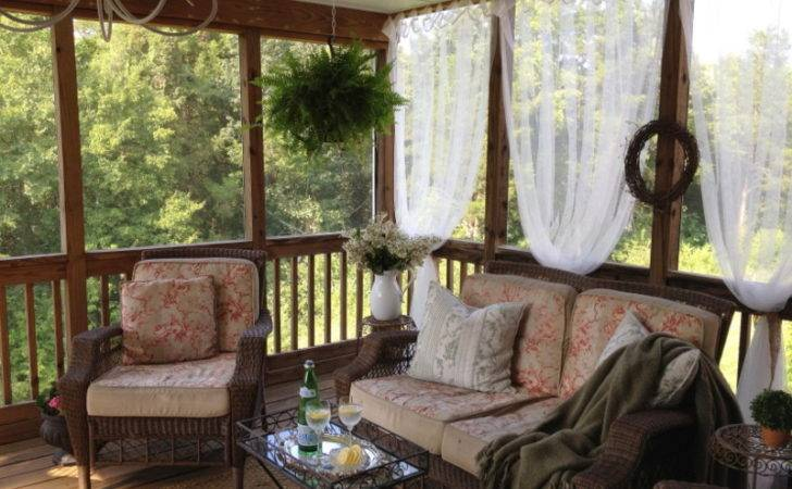 Then Created Diy Screened Porch Our Back