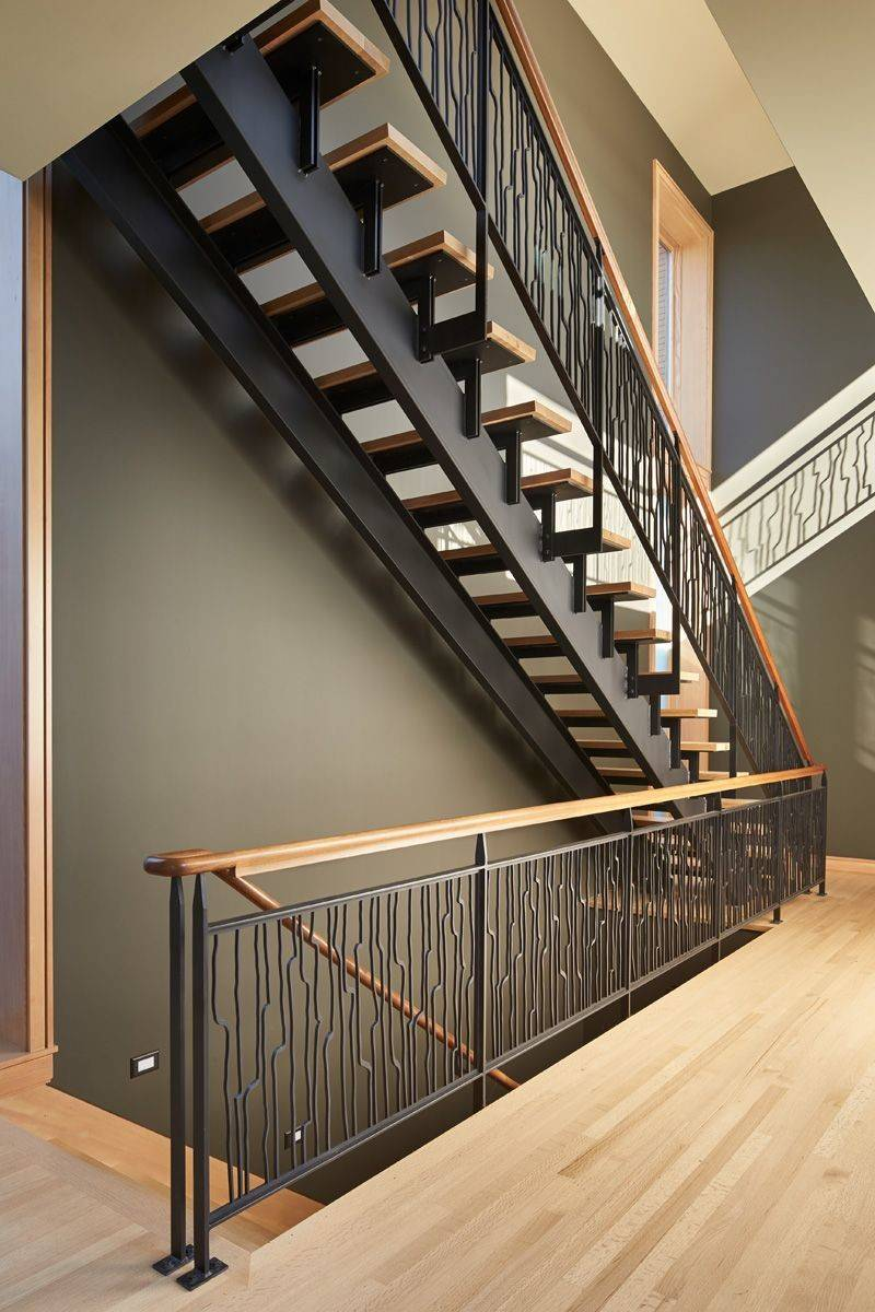 These Striking Steel Wood Stairs Have Water Jet Cut