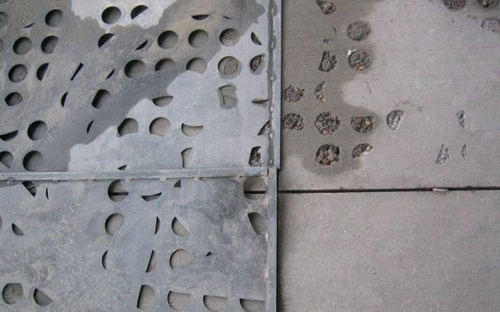 They Sandblast Through Holes Looks Like Concrete