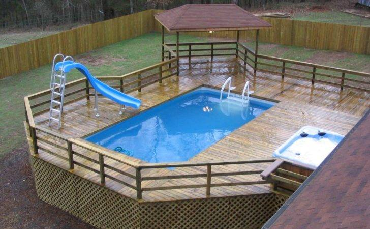 Thought Look These Awesome Above Ground Swimming Pools Decks
