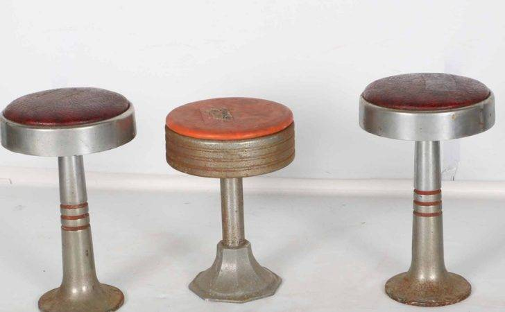 Three Vintage Soda Fountain Stools Ebth