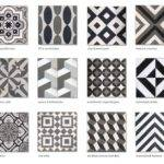 Tile Encaustic Cement Black White Grey Cletile Cool