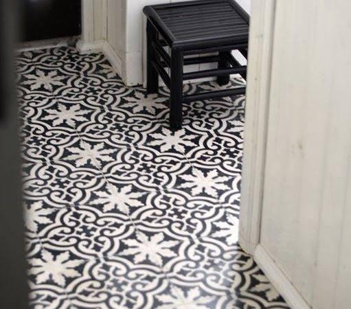 Tile Floors Black White Floor