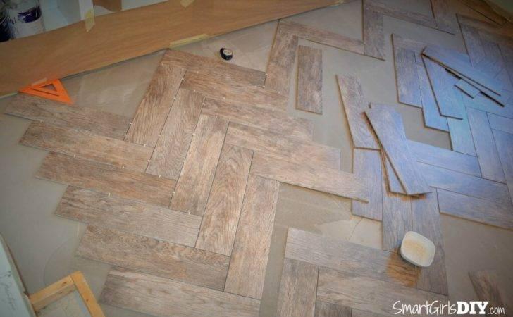 Tile Herringbone Floor Room
