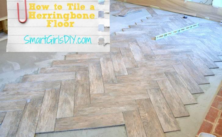 Tile Herringbone Floor Yourself