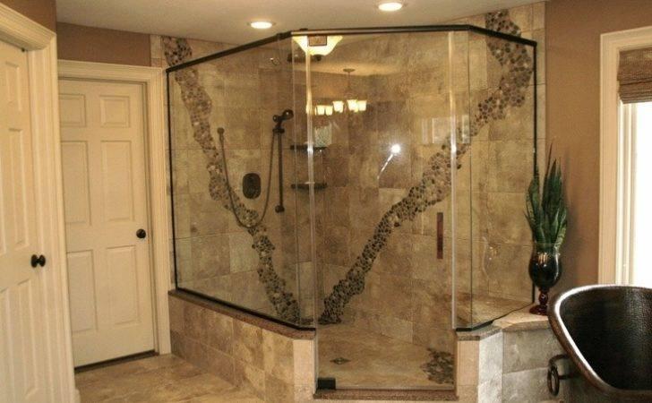 Tile Shower Rustic Walks Bathroom