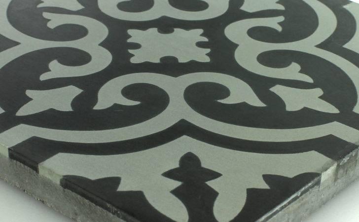 Tiles Antique Cement Floor Nottingham Black White