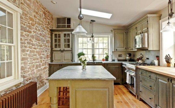 Timeless Kitchen Design Stone Wall Bungalow Pinterest