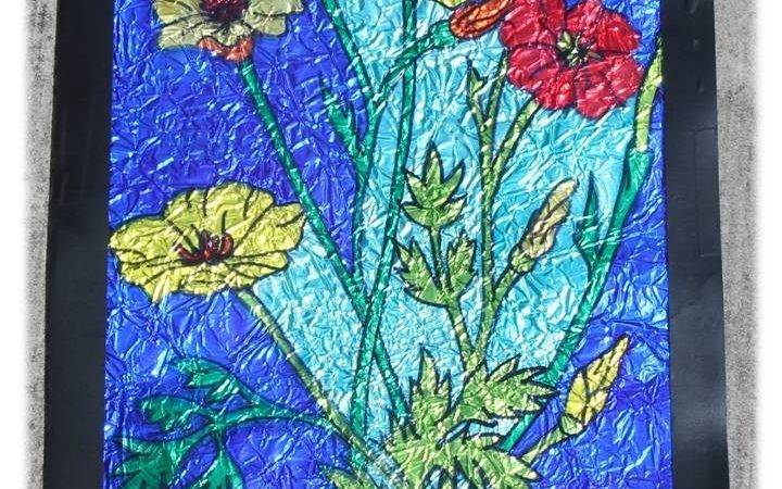 Tin Foil Art Pinterest Crafts Faux Stained Glass Design