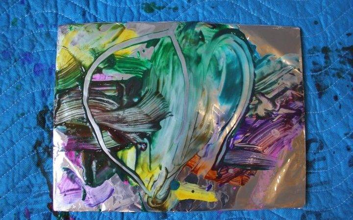 Tin Foil Painting Ideas Early Childhood Classroom