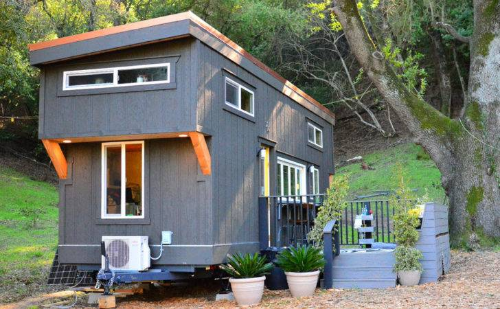 Tiny House Wheels Indoor Outdoor Entertaining Spaces
