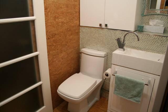 Tiny Laundry Powder Room Contemporary Montreal