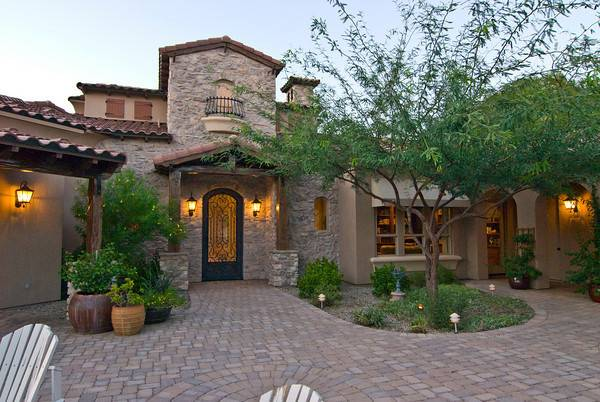 Toll Brothers Model Homes Well Rock Front Yard Desert Landscaping
